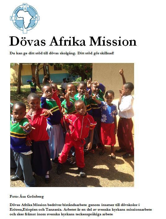 Photo of Dövas Afrikamission pomáhá africkým školám pro neslyšící