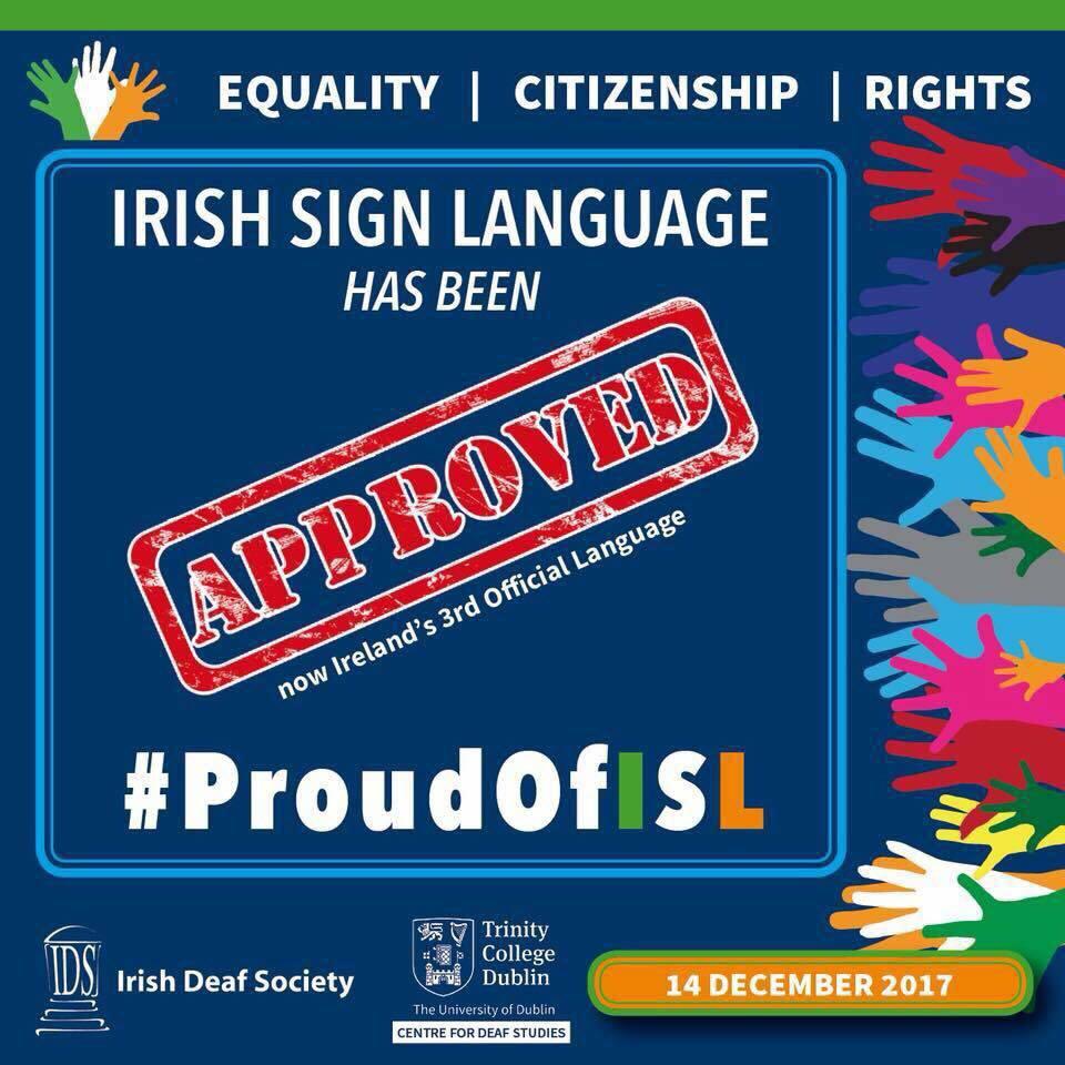 Photo of Znakový jazyk vIrsku byl uznán jako úřední jazyk