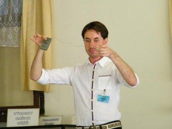 Photo of Sluchově postižený student přednáší pro odsouzené omeningitidě