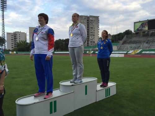 Photo of Lenka Matoušková vytvořila národní rekord neslyšících vhodu diskem